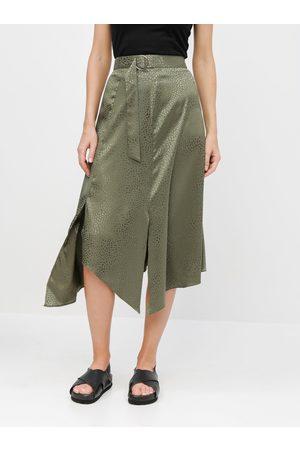 Miss Selfridge Asymetrická vzorovaná midi sukně