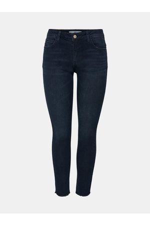 JACQUELINE DE YONG Tmavě modré skinny fit džíny