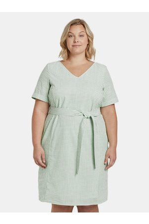 My True Me Tom Tailor Světle zelené dámské pruhované šaty