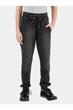 sam 73 Tmavě šedé holčičí kalhoty Maeve