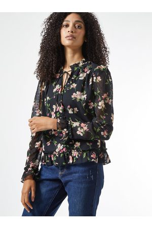 Dorothy Perkins Černá květovaná halenka