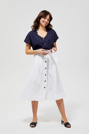 MOODO Midi sukně s vázankou