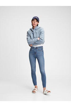 GAP Modré dámské džíny tr skinny high rise