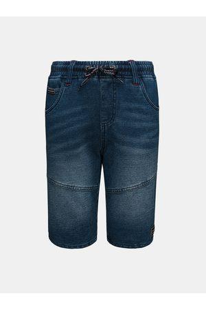 sam 73 Tmavě modré klučičí džínové kraťasy se zavazováním