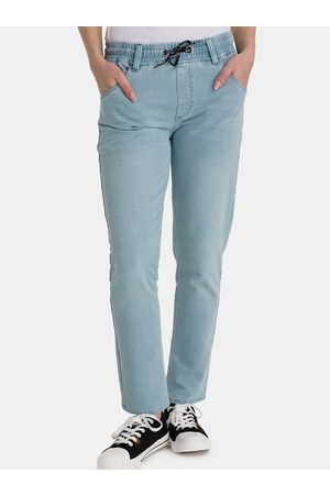 sam 73 Světle modré dámské straight fit džíny