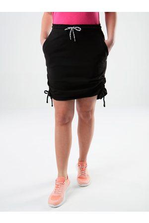 LOAP Černá dámská pouzdrová sukně se stahováním