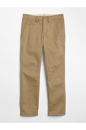 GAP Béžové klučičí dětské kalhoty chinos in stretch