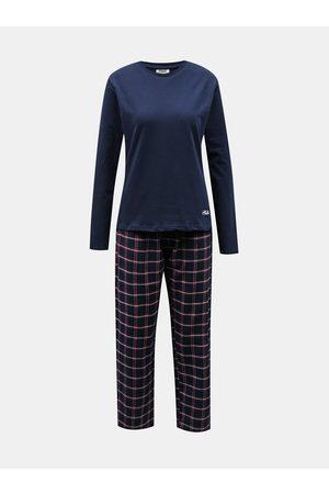 Fila Tmavě modré dámské kostkované pyžamo