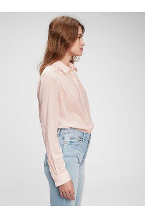 GAP Dámská košile pleated popover top