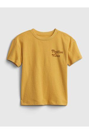 GAP Žluté klučičí dětské tričko gen good graphic t-shirt