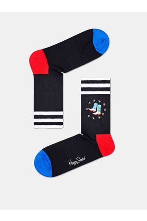 Happy Socks Černé ponožky Cowboy Boots