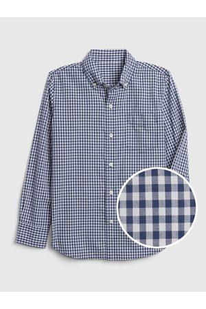 GAP Klučičí dětská košile gingham poplin