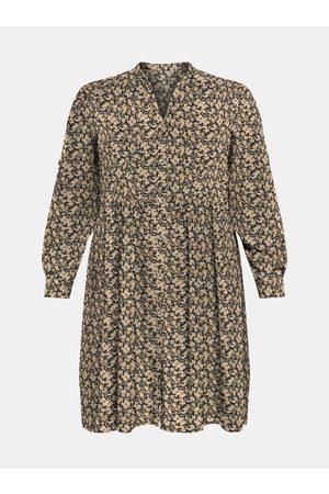 Carmakoma Béžové vzorované šaty New Marra