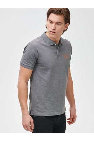 GAP Šedé pánské polo tričko Logo pique
