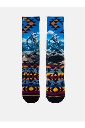 Xpooos Žluto-modré pánské ponožky