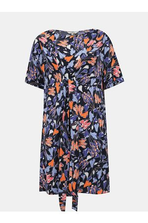 My True Me Tom Tailor Modré květované šaty