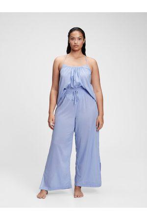 GAP Modré dámské pyžamové kalhoty dreamwell pajama pants
