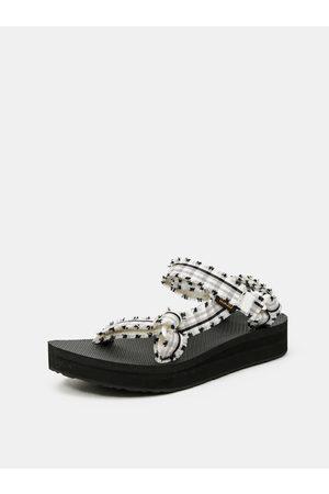 Teva Černo-bílé dámské kostkované sandály