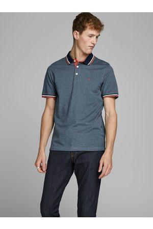 JACK & JONES Modré polo tričko Paulos