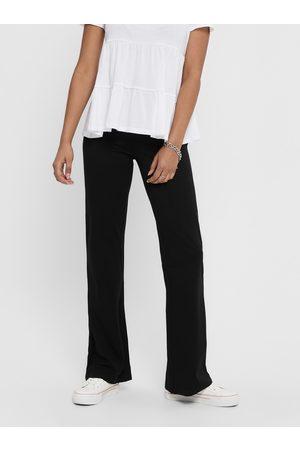 JACQUELINE DE YONG Černé flared fit kalhoty Pretty