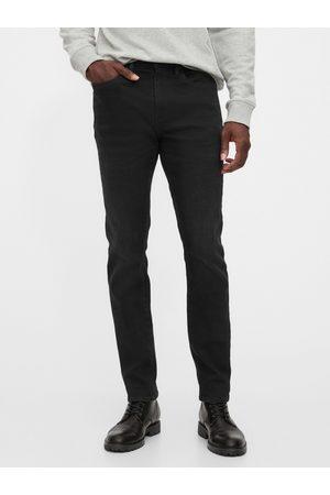 GAP Černé pánské džíny v-skinny soft high stretch black