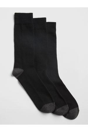 GAP Černé pánské ponožky 3-Pack