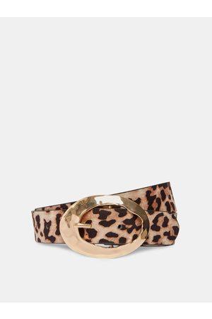 Dorothy Perkins Hnědý pásek s leopardím vzorem