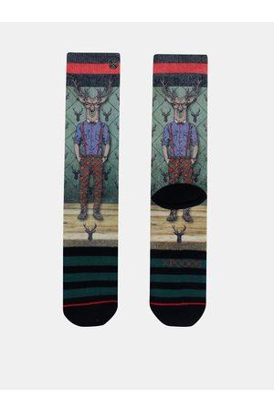 Xpooos Zelené pánské ponožky