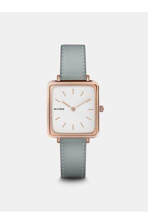 Millner Dámské hodinky se světle šedým koženkovým páskem Royal