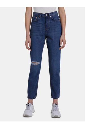 TOM TAILOR Tmavě modré dámské mom džíny