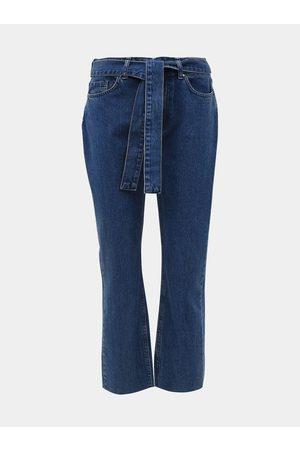 M&Co Modré zkrácené straight fit džíny