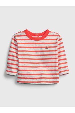 GAP Červené klučičí baby tričko nep stripe ls top