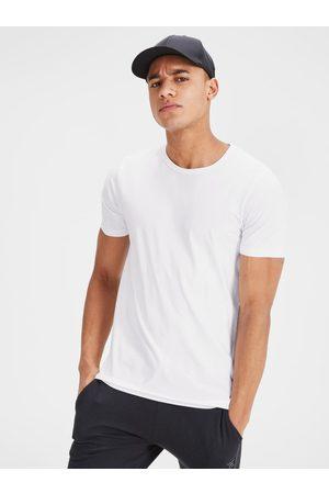 JACK & JONES Bílé basic tričko s krátkým rukávem Basic
