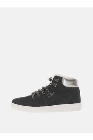 sam 73 Černé dámské zimní kotníkové boty