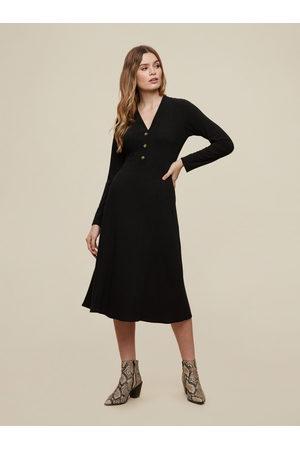 Dorothy Perkins Černé šaty s knoflíky