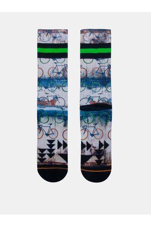 Xpooos Šedo-modré pánské ponožky