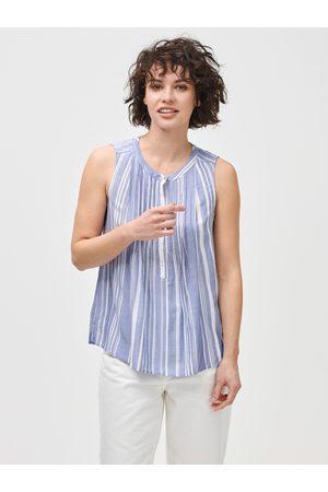 GAP Modrý dámský top pintuck sleeveless