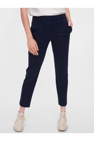 GAP Modré dámské kalhoty slim ankle pants