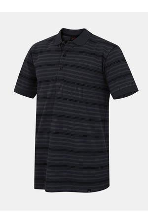 Cubus Tmavě šedé pánské pruhované polo tričko Rugby
