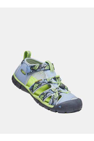 Keen Světle modré holčičí vzorované sandály