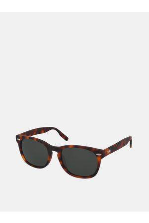 crullé Hnědé vzorované sluneční brýle