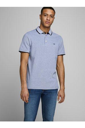 JACK & JONES Světle modré polo tričko Paulos