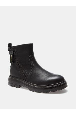 Wrangler Černé dámské kožené kotníkové boty Clash
