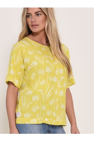 Brakeburn Žlutá květovaná halenka