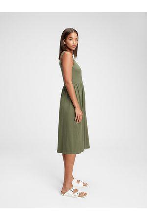 GAP Zelené dámské šaty sl casual drs