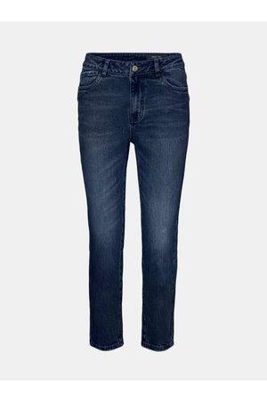 Noisy May Tmavě modré straight fit džíny