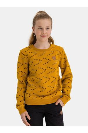 sam 73 Žlutá holčičí vzorovaná mikina