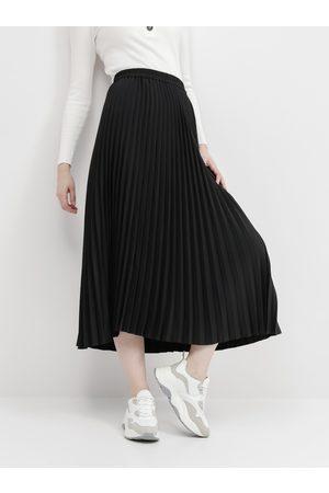 SELECTED Černá plisovaná sukně Alexis