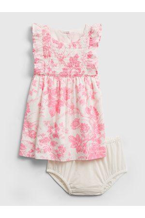 GAP Barevné holčičí baby šaty pink flrl drs
