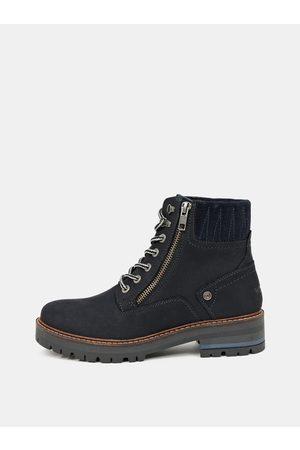 Wrangler Černé dámské kožené zimní boty Denver